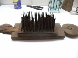 Antique Flax Heckle Hemp Wool Comb 1007 18