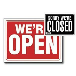 2 Pk 12 X 16 Open Sign W Closed Sign On Back