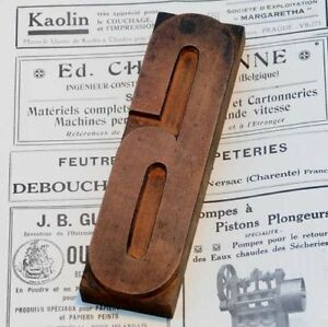 Number 6 Wood Type 7 09 Woodtype Font Letterpress Printing Block Print Printer