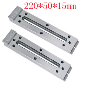 2x Wire Edm Fixture Board Stainless Jig Tool For Clamping And Level 220x50x15mm