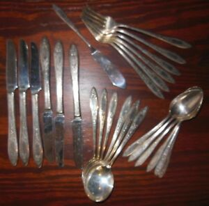 Wm Rogers Oneida Aa Heavy Silverplate Flatware Debutante Grandeur Princess Royal