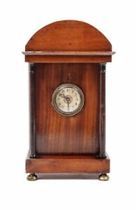 Circa 1815 Continental Neoclassical Ebonized And Stained Wood Clock