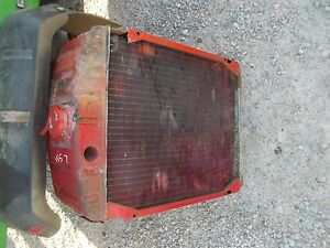 Farmall Super M Sm Ih Tractor Working Engine Motor Radiator Assembly