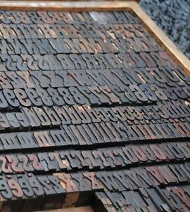 Letterpress Wood Printing Blocks 350pcs 1 38 Tall Alphabet Wooden Type Woodtype