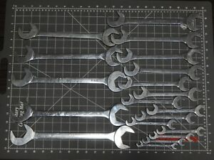 Mac Tools 4 Way Angle Head Open End Wrench 18pc 1 3 16 Set 3 8 1 1 2 Sda18k