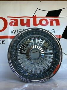 New Dayton Wire Wheels 16 X 7 Chrome Reverse Offset Serialized Set Of 4