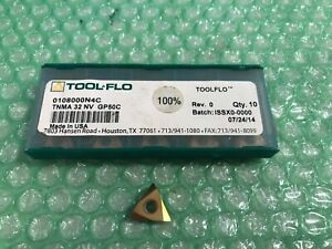Tool Flo 0108000n4c Threading Insert 3 8 In Ic Tnma 32 Nv Gp50 Pack Of 10