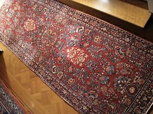Wide 1940s Vintage 4 0 X 11 8 Persian Sarouk Runner Complimentary Shipping