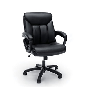 Essentials Leather Executive Computer office Chair With Arms Ergonomic Swivel