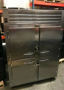 Traulsen Aht232wut hhs 51 6 Cu Ft Half Door Two Section Reach In Refrigerator