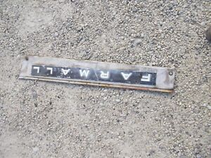 Farmall Ih 504 Tractor Main Right Engine Motor Front Side Cover Panel