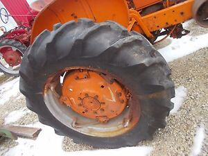 Allis Chalmers Wd Wd45 45 Tractor Ac Spin Out Rims Rim 13 6x28 Goodyear Tires