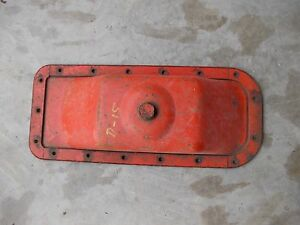 Allis Chalmers D15 Tractor Ac Engine Motor Oil Pan With Drain Plug