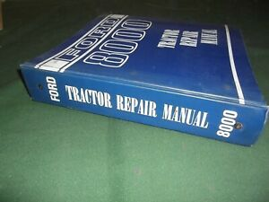 Ford New Holland 8000 Series Tractor Service Shop Repair Manual Book