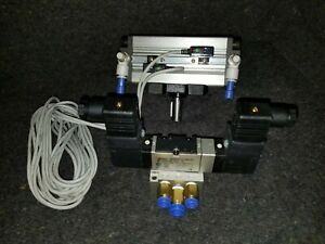 Pneumatic Rotary Actuator Speed Control Reed Switches And Directional Valve