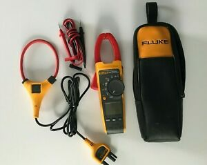 Fluke 375 Fc Trms Ac dc Clamp Meter Case Probes And Iflex