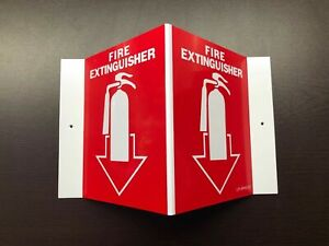 New 5 X 6 3 d Rigid Plastic Angle Fire Extinguisher Picture Sign
