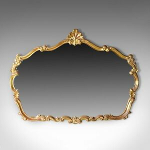 Large Vintage Wall Mirror Rococo Revival Taste English Late 20th Century