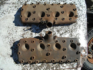 Ford Flathead Engine 59ab 59a B Set Of Heads Mercury Cylinder Hot Rod Rat Look
