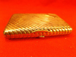 Beautiful Russian Silver Cigarette Case St Petersburg Late 1800s Bag Mono Box