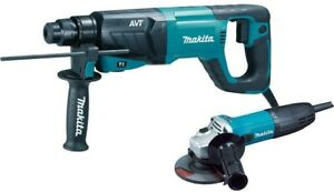 Makita 1 in Rotary Hammer Drill And 4 1 2 in Angle Grinder Corded Tool Combo Set