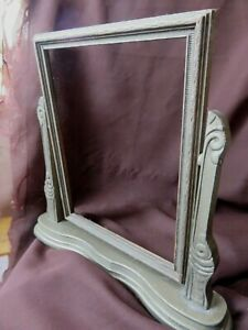 Antique Art Deco Picture Frame Wood Tilt Style Table Top Holds 7 X 9