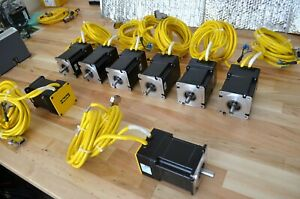 New Parker Be342hj Nema34 Brushless Servo Motors 1100w With 10ft Cables Gemini