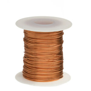 22 Awg Gauge Bare Copper Wire Buss Wire 100 Length 0 0253 Natural
