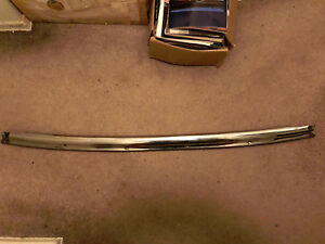 1966 1967 Chevelle Gto Convertible Windshield Header Stainless Molding Oem Nice