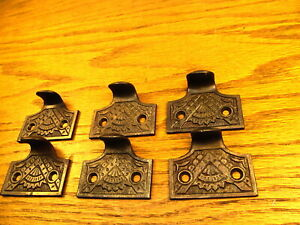 Lot Of 6 Eastlake Oriental Window Sash Lifts Pulls Ornate