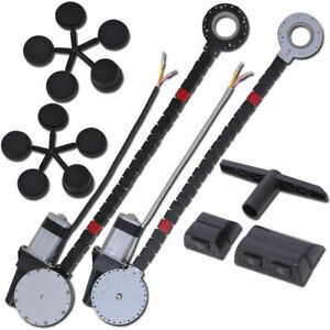 Universal Car Truck 12v 2 Door Electric Power Window Conversion Kit Switches