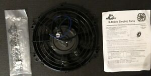 New Flex a lite 12 Reversable Electric S blade Fan In Black Shroud 392