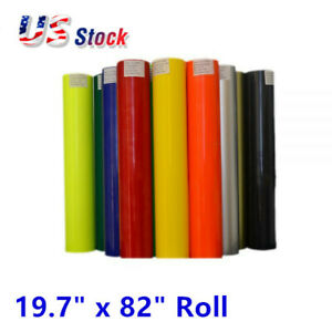 Usa 19 7 X 82 Roll Pu Non sticky Digital Cutting Heat Transfer Vinyl White
