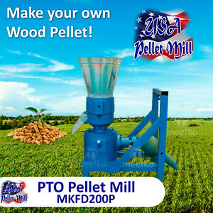 Pto Pellet Mill For Wood Mkfd200p Usa