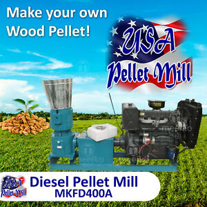 Diesel Pellet Mill For Wood Mkfd400a Usa