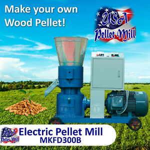 Electric Pellet Mill For Wood Mkfd300b Usa