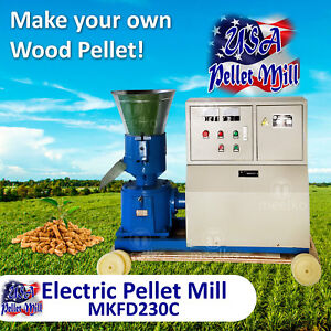 Electric Pellet Mill For Wood Mkfd230c Usa