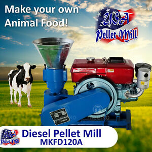 Diesel Pellet Mill For Cow s Food Mkfd120a Usa