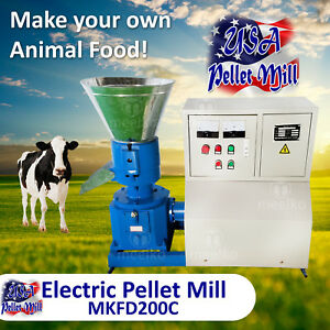Electric Pellet Mill For Cow s Food Mkfd200c Usa