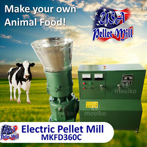 Electric Pellet Mill For Cow s Food Mkfd360c Usa