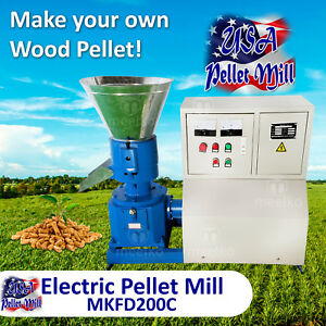 Electric Pellet Mill For Wood Mkfd200c Usa