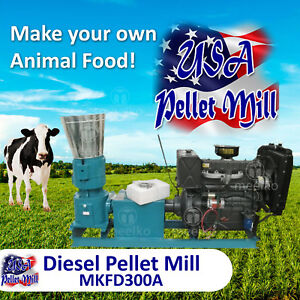 Diesel Pellet Mill For Cow s Food Mkfd300a Usa