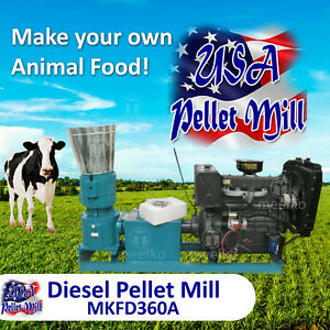 Diesel Pellet Mill For Cow s Food Mkfd360a Usa