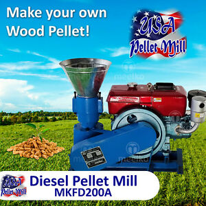Diesel Pellet Mill For Wood Mkfd200a Usa