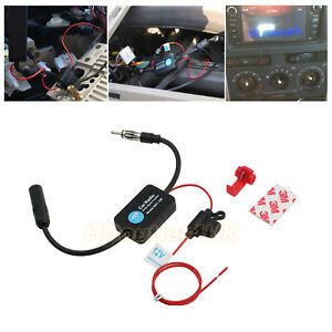 12v Am Fm Stereo Car Auto Radio Antenna Signal Amplifier Booster Universal 330mm