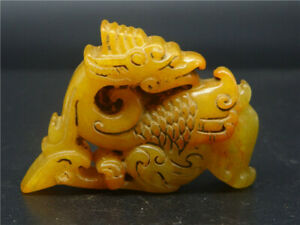 Chinese Beautiful Chinese Old Jade Hand Carved Dsc144 Statue
