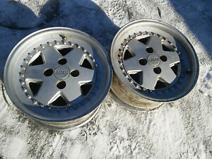 2x Original Gotti 4x100 8jx15 Et25 Rims Wheels Bmw E30 Vw Golf No Bbs Rs Alpina