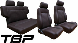 1966 1977 Early Ford Bronco Premium Seats Dark Brown Front Rear Seat Kit
