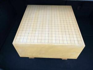 Vintage Natural Wood Go Game Board Goban Hand Carved Wooden Legs 01