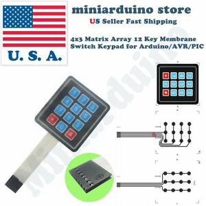 5pcs Keypad 4 X 3 Matrix Array 12 Key Arduino Membrane Switch Keyboard Module